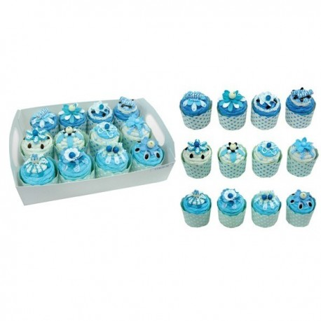 SET 12 CAJAS CUPCAKES + DISPLAY DE REGALO
